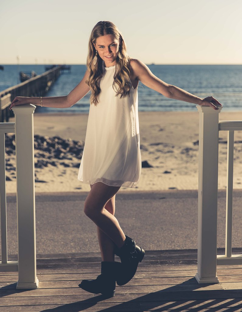 Porträttfotografering Falkenberg Strandbad av OODT Fashion