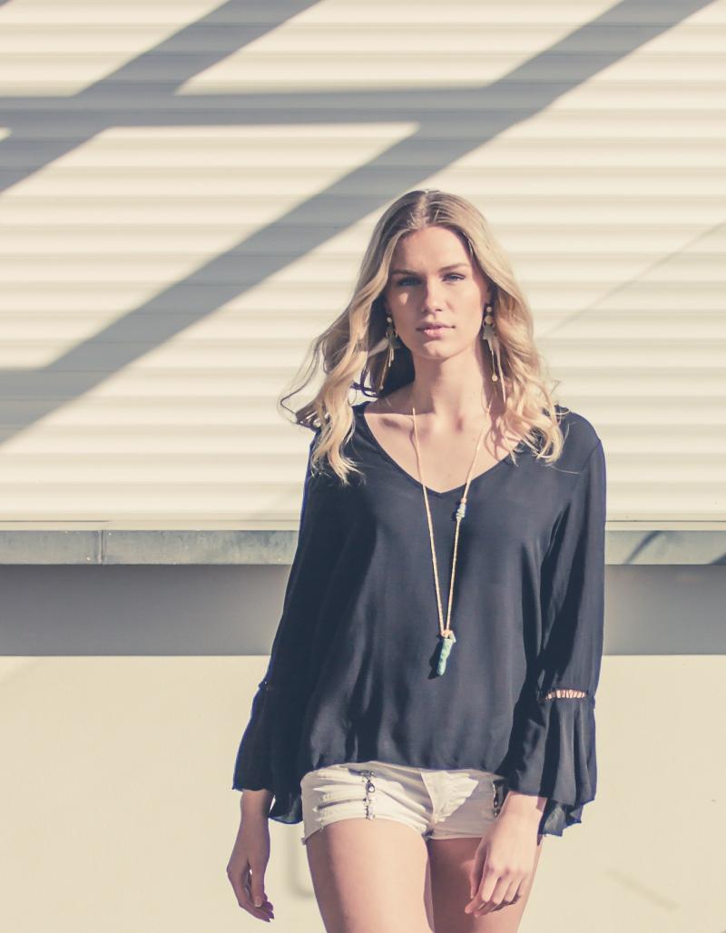 Porträttfotografering Falkenberg Strandbad av OODT Fashion Backstabber